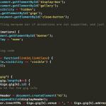 A sample of JavaScript code